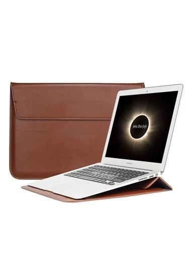 Mcstorey Apple MacBook Air Retina 13.3'' Deri Çanta Kılıf Kahve